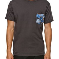 Reef Pockets Crew T-Shirt - Mens Tee - Black