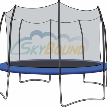 SkyBound 15 Foot Trampoline Net - Fits 15 Foot Frames with 8 Straight-Curved Enclosure Poles