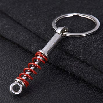 new arrival free shipping Shock absorber metal auto parts key chain auto keychain autoparts key ring car gift  drop shipping