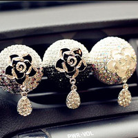 Crystal Car Air Freshener Vent Clip, car air freshener, Cute Car Decals Accessories