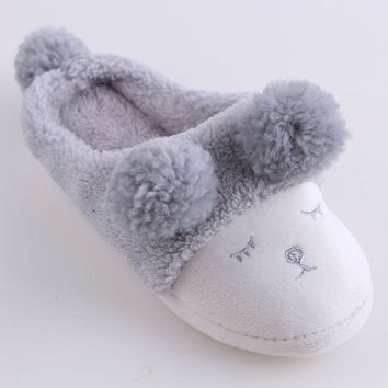 New Women Home Slippers For couple Cute Sheep Animal Indoor Bedroom Female Shoes
