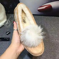 """UGG"" Winter New Trending Women Stylish Wool Shoes Chestnut"