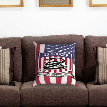US Soccer Pillow Cover , Custom Zippered Pillow Case One Side Two Sides