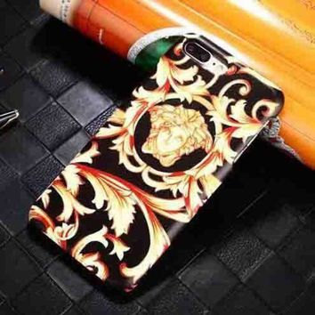 LMFUP0 Versace Fashion Logo Print iPhone Phone Cover Case For iphone 6 6s 6plus 6s-plus 7 7plus1