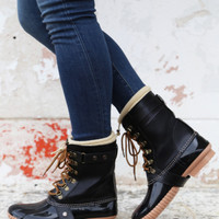 Duck Boots {Black}