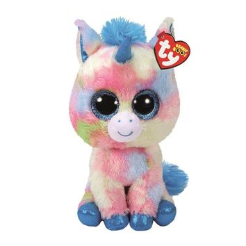 "Ty Beanie Boos Plush Animal Doll Blitz Ice Cream Color Unicorn  Soft Stuffed Toys With Tag 6"" 15cm"