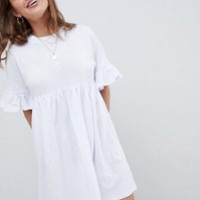 ASOS DESIGN Petite ultimate cotton smock dress at asos.com