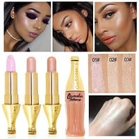 Hot Cheap Makeup for Ladies Face Concealer Contour Makeup Bronzers Gold Shimmer Highlighter Stick