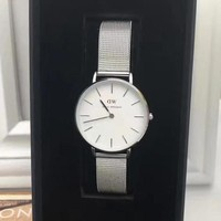 Daniel Wellington Women Fashion Trend Grid Strap Simple Wristwatch Watch
