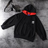 """""""Adidas"""" Unisex Casual Letter Logo Print Hooded Long Sleeve Sweater Couple Pullover Sweatshirt Hoodie Tops"""