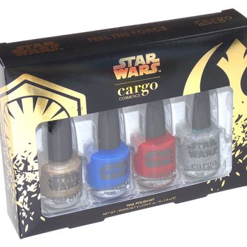 Star Wars Nail Polish 4 Piece Kit Cargo Cosmetics Collector Limited Edition
