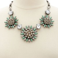 Glitzy Rhinestone Statement Necklace