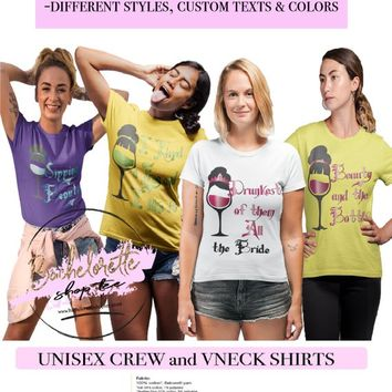 Princess Bachelorette Party Shirts, Drunest of them All, Sipping Beauty, Bridesmaid Funny Shirts, Bridesamid Fairytale Shirts, Bridesmaid