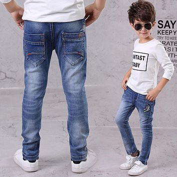 New Style 2017 Baby Boys Jeans Good news Birds knitted Boys Jeans Brand Children Clothing Kids Jeans Children Casual Pants
