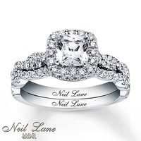 Neil Lane Bridal Set 1 5/8 ct tw Diamonds 14K White Gold