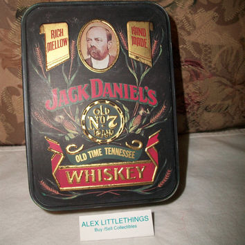 Jack Daniel's Tin Can To Hold Glass Mini Bottles