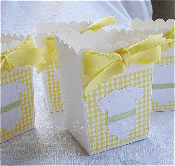 baby shower favor box popcorn style from jaclyn peters designs