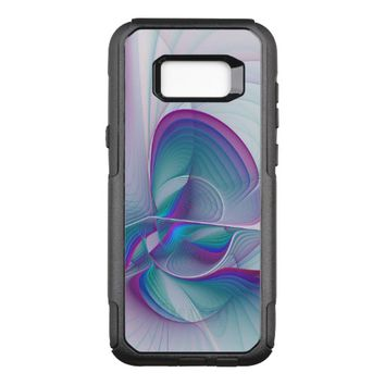 Colorful Modern Pink Blue Turquoise Fractal Art OtterBox Commuter Samsung Galaxy S8+ Case