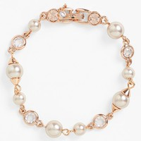 Women's Givenchy Faux Pearl & Crystal Bracelet