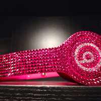 Swarovski Crystal - Drenched in Color - Beats by Dre Solo - Pink **NEW HEADPHONES INCLUDED**