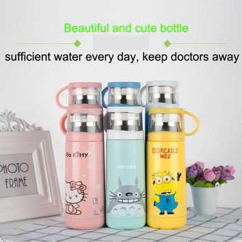 HOT Cute Cartoon Thermos Stainless Steel Vacuum Flask Cup For Kid's Gift Thermos Cup Coffee Mug Travel Bottle