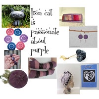 Iron cat is passionate about purple