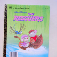 Vintage The Rescuers Golden Book 1981