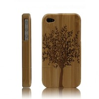 Eco-friendly Handcarved Bamboo iPhone 4 & 4s Cases- A Big Tree