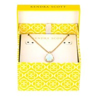 Kiri March Birthstone Necklace in Clear Light Blue - Kendra Scott Jewelry