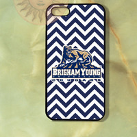 Brigham Young University Cougars iPhone 5, 5s, 5c, 4s, 4, Ipod touch 5, 4, Samsung GS3, GS4, GS5 Rubber or Hard Plastic Case, Phone cover