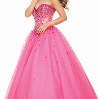 Tulle Strapless Prom Gown from Mori Lee