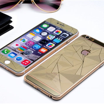 3D Dual Tempered Glass Protectors for iPhone 6/6S. Available Gold, Pink, Silver, Blue, Black. Free Worldwide Shipping on any order.