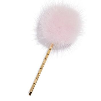 Wild and Woolly Genuine Mink Fur Pom Bobby Pin | Nordstrom