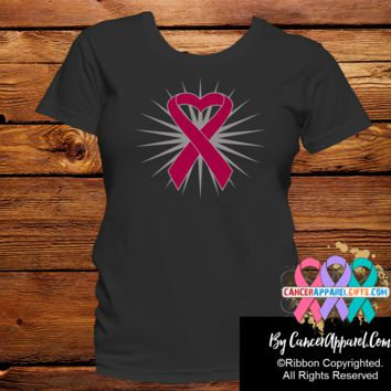 Multiple Myeloma Awareness Heart Ribbon Shirts