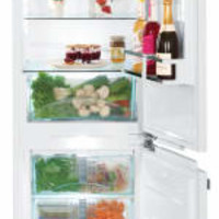 "Liebherr HC1021 24"" Built-in Panel Ready Bottom Freezer Refrigerator with 4 Glass Shelves, Adjustable Door Bins, Large Crisper Drawer, 3 Freezer Drawers, LED Lighting, NoFrost Defrost, Star-K Sabbath Mode and ENERGY STAR Rated"