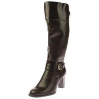 LifeStride Womens Yana Wide Shaft Faux Leather Riding Boots