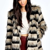 Anthonia Layered Faux Fur Coat