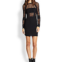 MM6 Maison Martin Margiela - Sheer-Paneled Body-Con Sweaterdress - Saks Fifth Avenue Mobile