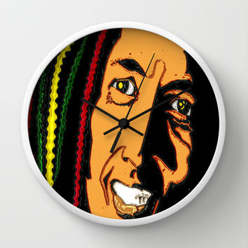 RASTA MAN Wall Clock by Fiery Finn77