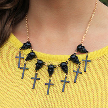 Skull Spirit Black Necklace