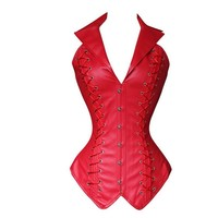 Leather corset  waist trainer corsets steampunk sexy overbust armor corset bustiers steampunk clothing corset sexy Straitjacket