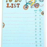 Bear Bike To-Do List Notepad