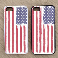 Cute Nautical Summer Patriotic American Flag iPhone Case, iPhone 5 Case, iPhone 4S Case, iPhone 4 Case - SKU: 234