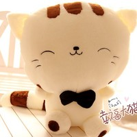 FREE SHIPPING Plush cat toy happiness soft cushion pillow