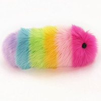 Girly Rainbow Snuggle Worm Caterpillar Plush Stuffed Animal Small