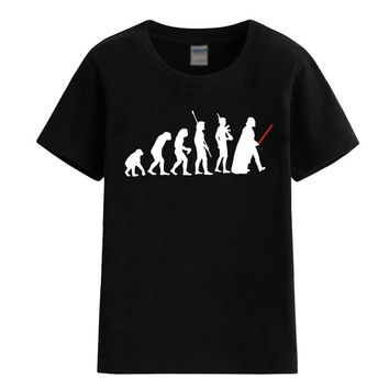 STARWARS DARTH VADER EVOLUTION 2017 summer T-shirt for boy fashion cotton child T-shirts for girls various colours available top