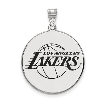 NBA Los Angeles Lakers Xlarge Disc Pendant in Sterling Silver