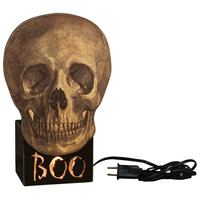 Boo Skull Light Box