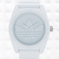 Adidas Large Santiago Watch in White - Urban Outfitters