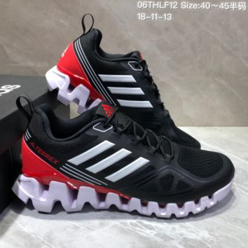 AUGUAU A469 Adidas Terrex High Frequency Breathable TPU Vamp Running Shoes Black Red White